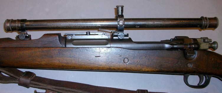 Winchester A5 Scope mounted on the .03 Springfield